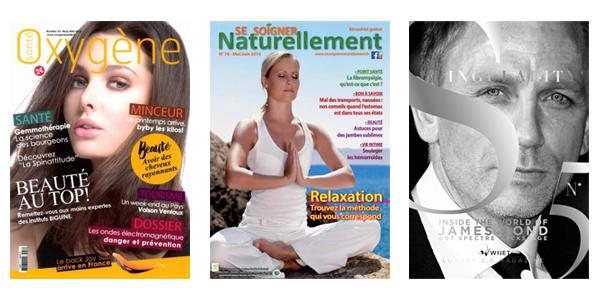 Références Magazines Sante, Bien-être et Luxe - Christophe Da Silva